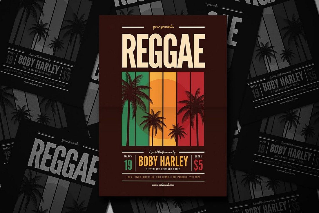 Reggae-Music-Party-Flyer 30+ Best Music & Band Flyer Templates design tips