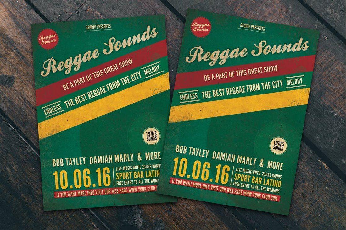 Reggae-Sounds-Flyer-Poster 27 Inspiring Letterpress Style Posters design tips