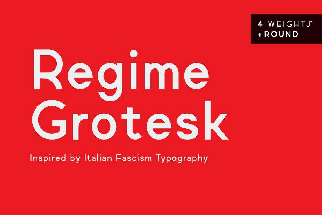 Regime Grotesk - Business Font Family