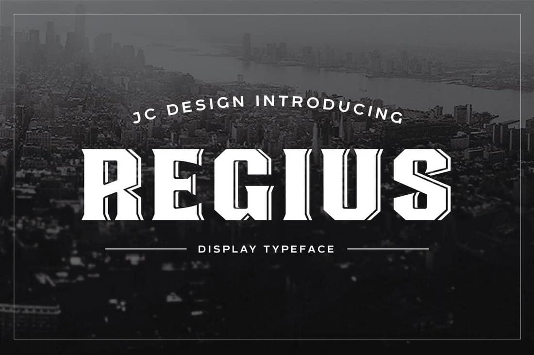 Regius - Creative Display Font
