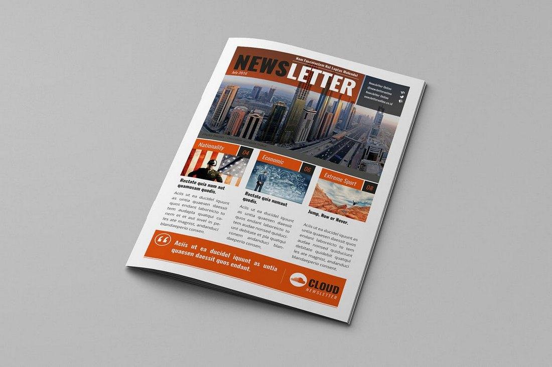 Regyna-School-Newsletter-Template 20+ School Newsletter Templates design tips