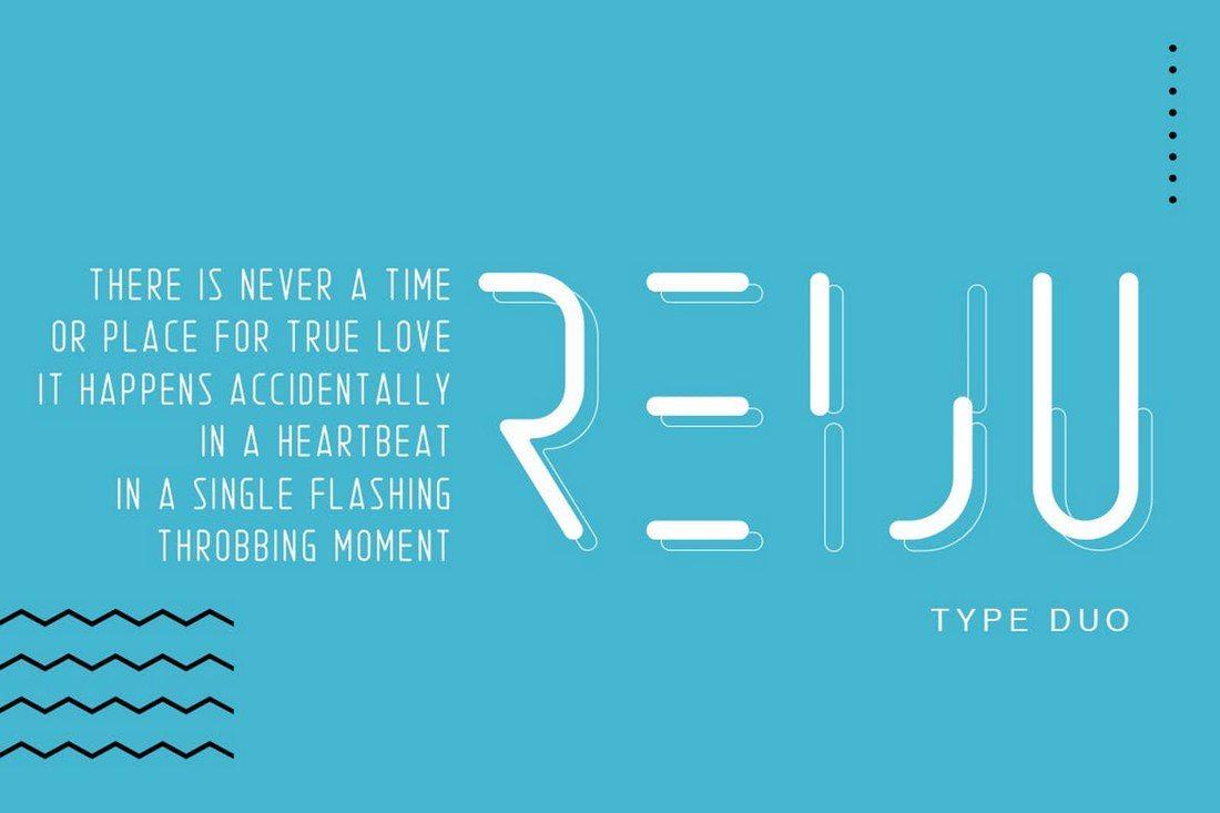 Reiju-Typeface-Duo 30+ Best Modern & Futuristic Fonts 2021 design tips