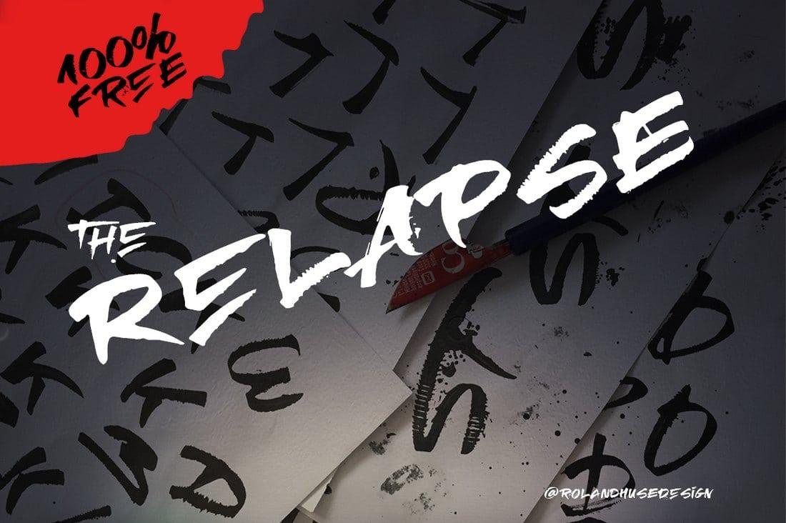 Relapse - Une police gratuite à la main