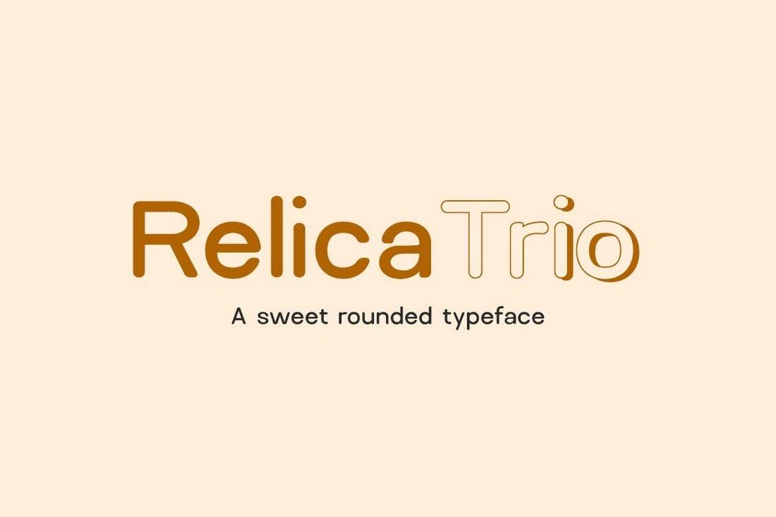 Relica Trio - Rounded Sans-Serif Font