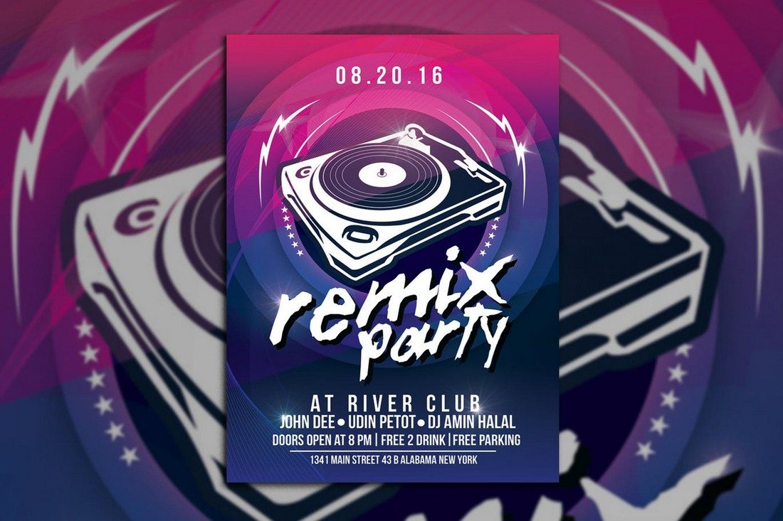 Remix-Music-Party 30+ Best Music & Band Flyer Templates design tips