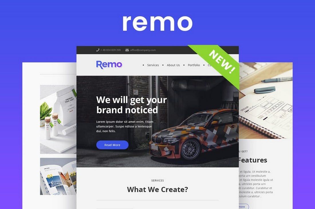 Remo-Modern-Email-Newsletter-Template 20+ Best MailChimp Email Newsletter Templates (Free + Premium) 2021 design tips
