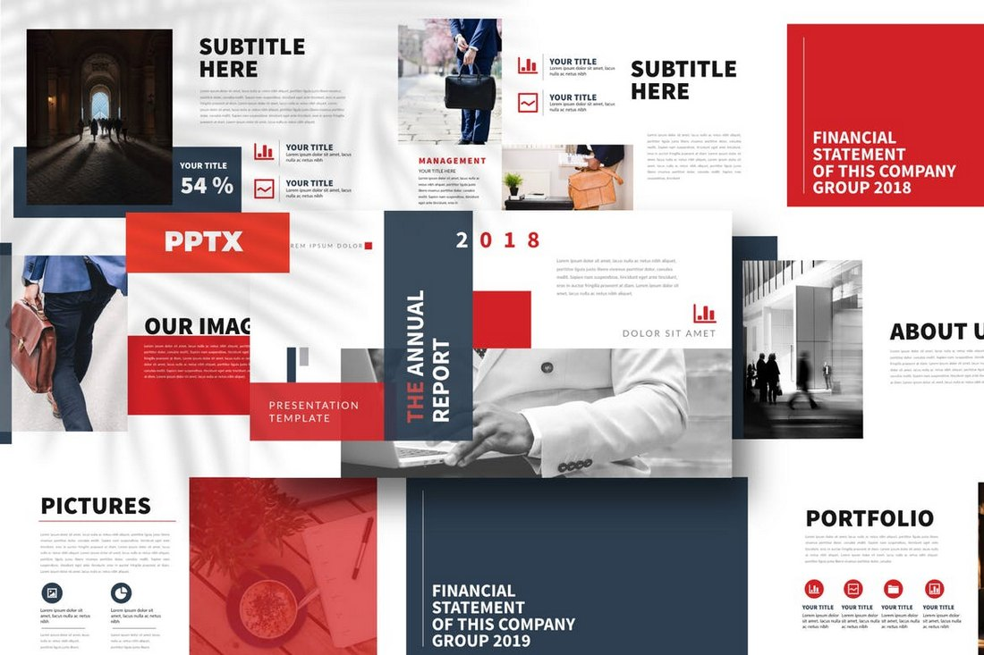 Report-Powerpoint-Template 20+ Modern Professional PowerPoint Templates design tips