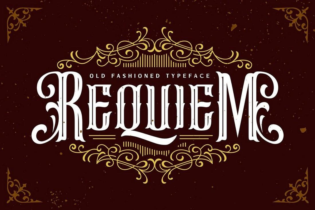 Requiem-Vintage-Blackletter-Gothic-Font 40+ Best Gothic Fonts design tips