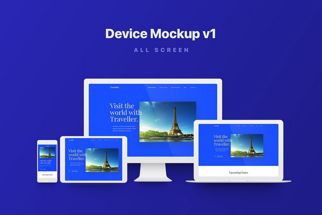 Responsive-Apple-Device-Mockups 40+ iMac Mockup PSDs, Photos & Vectors design tips