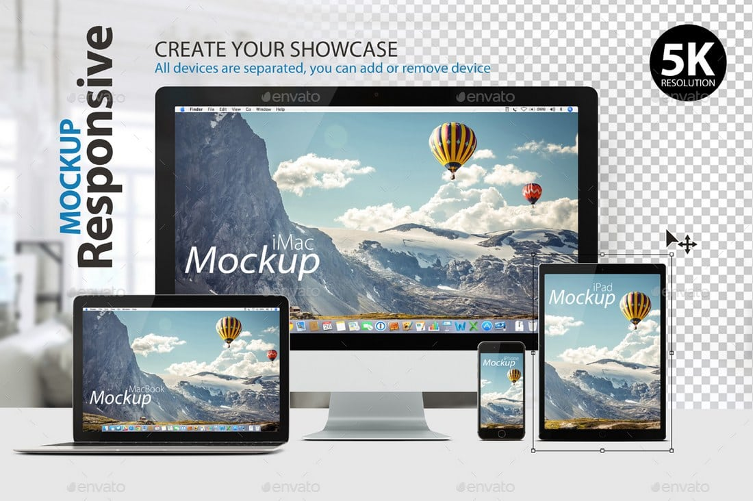Responsive Desktop Mockup for Presentations