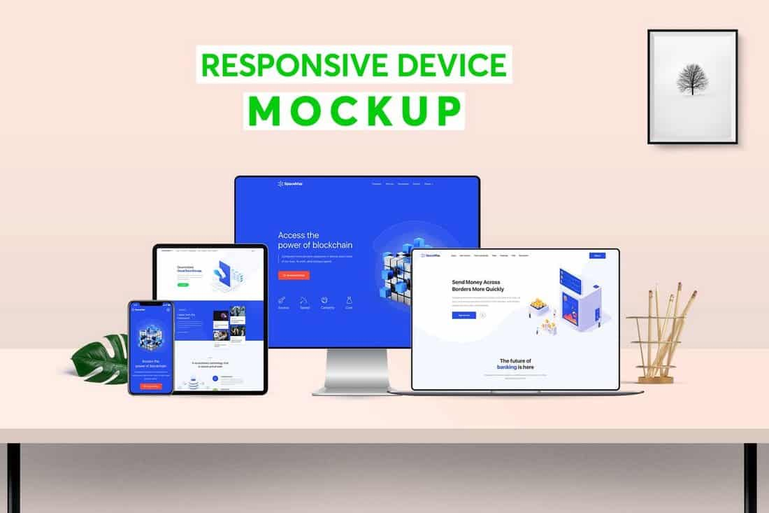 Responsive Devices Website Mockup Template