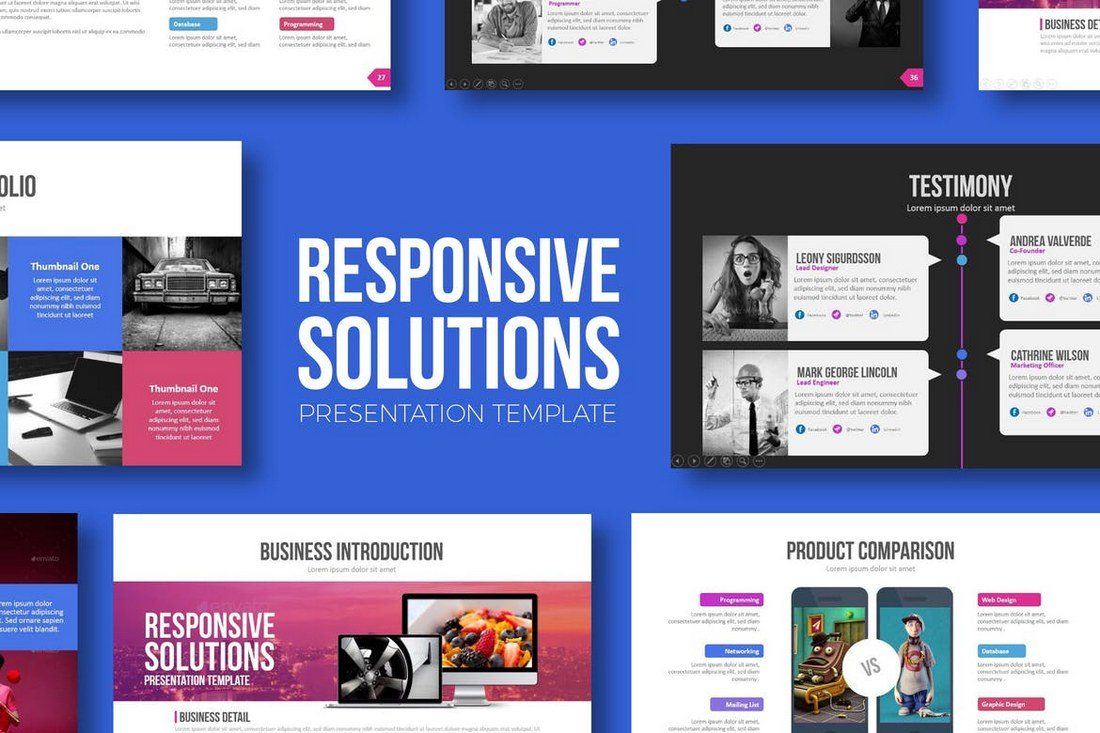 Responsive-Solutions-Powerpoint-Template 50+ Best PowerPoint Templates of 2019 design tips