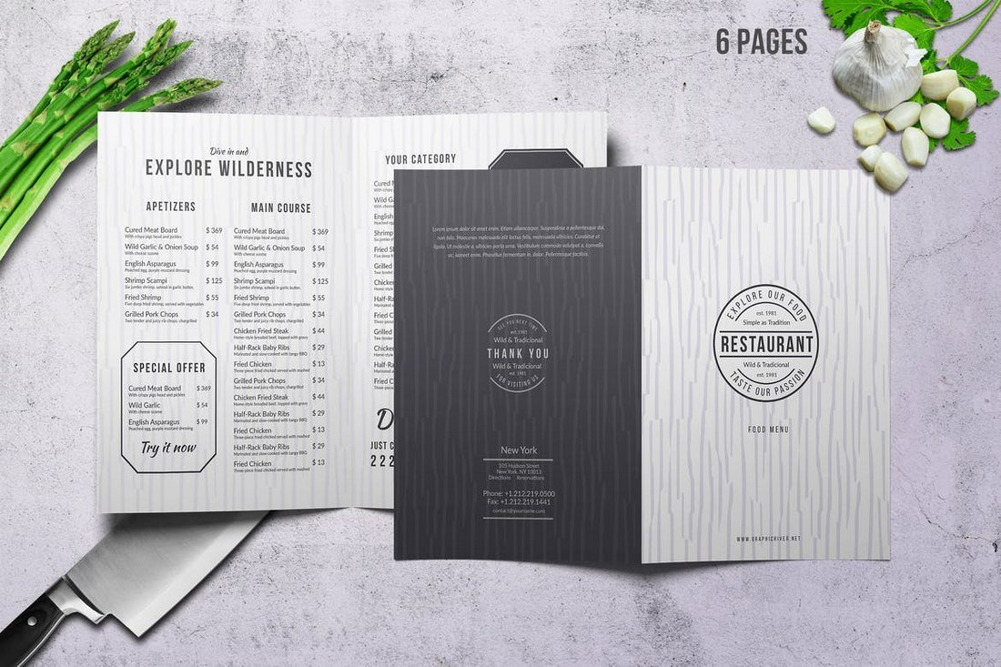 Restaurant Food and Drink Menu Template