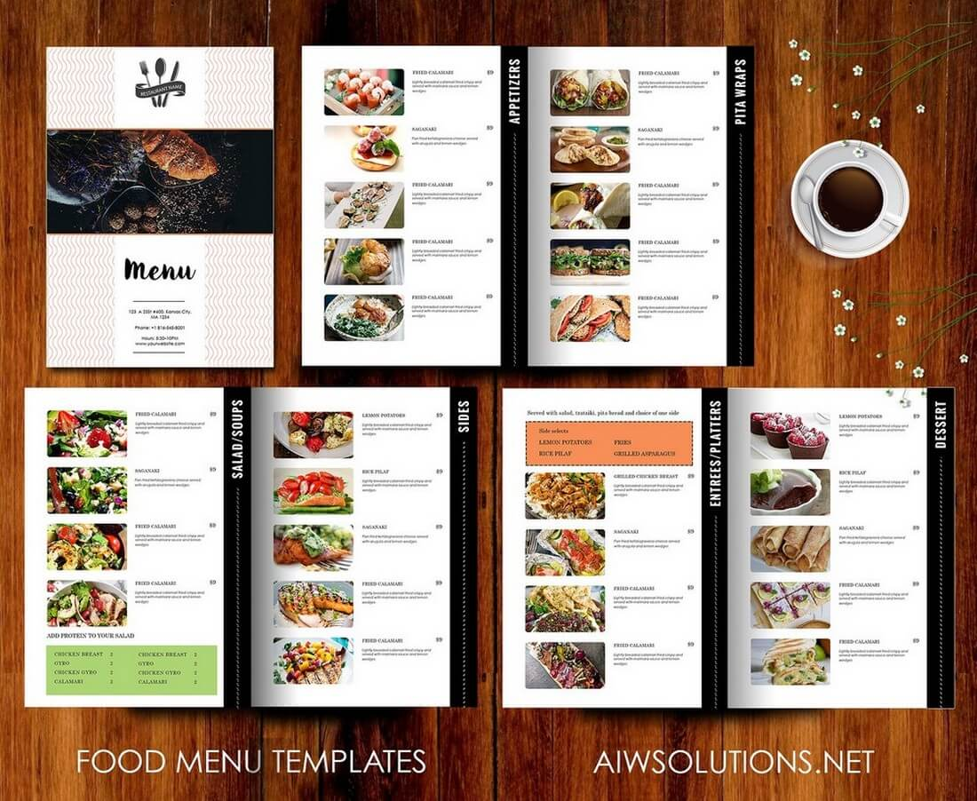 50 best food drink menu templates design shack for Resturant menu templates