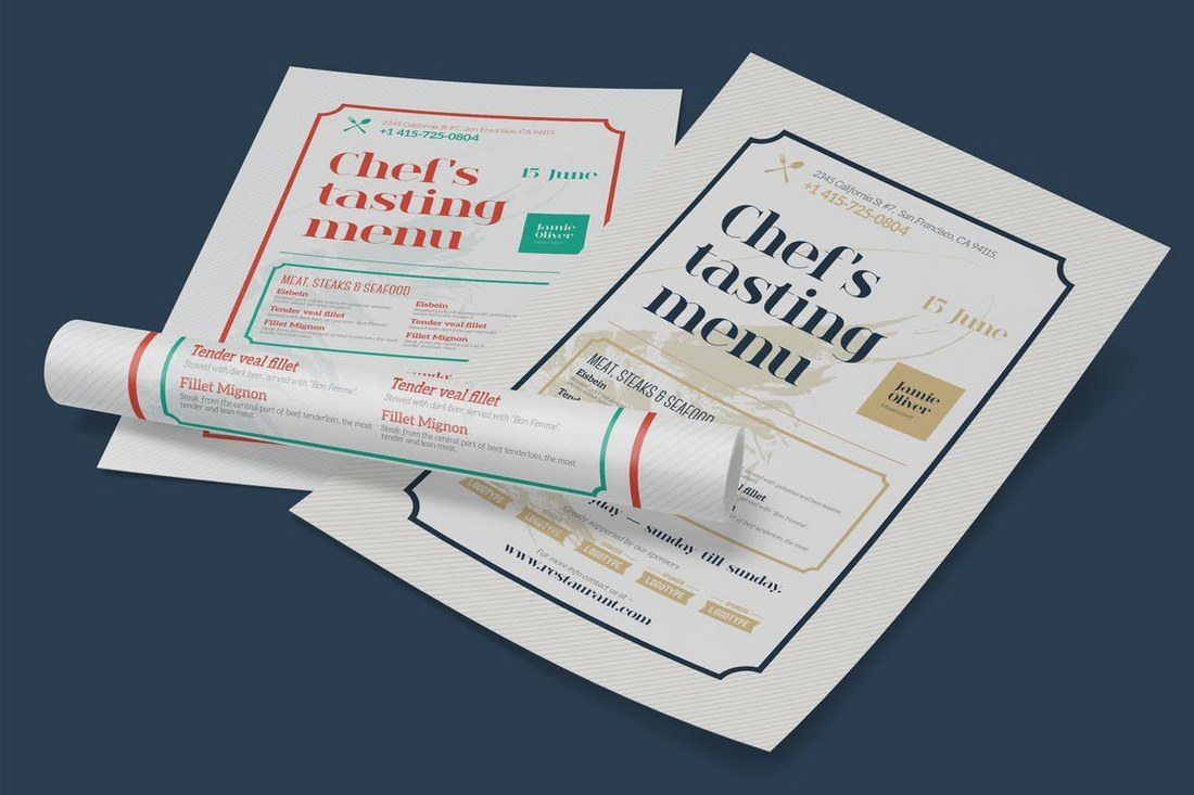 Restaurant-Poster-Template 27 Inspiring Letterpress Style Posters design tips