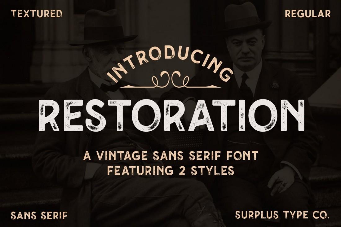 Restoration - Free Vintage Rustic Font
