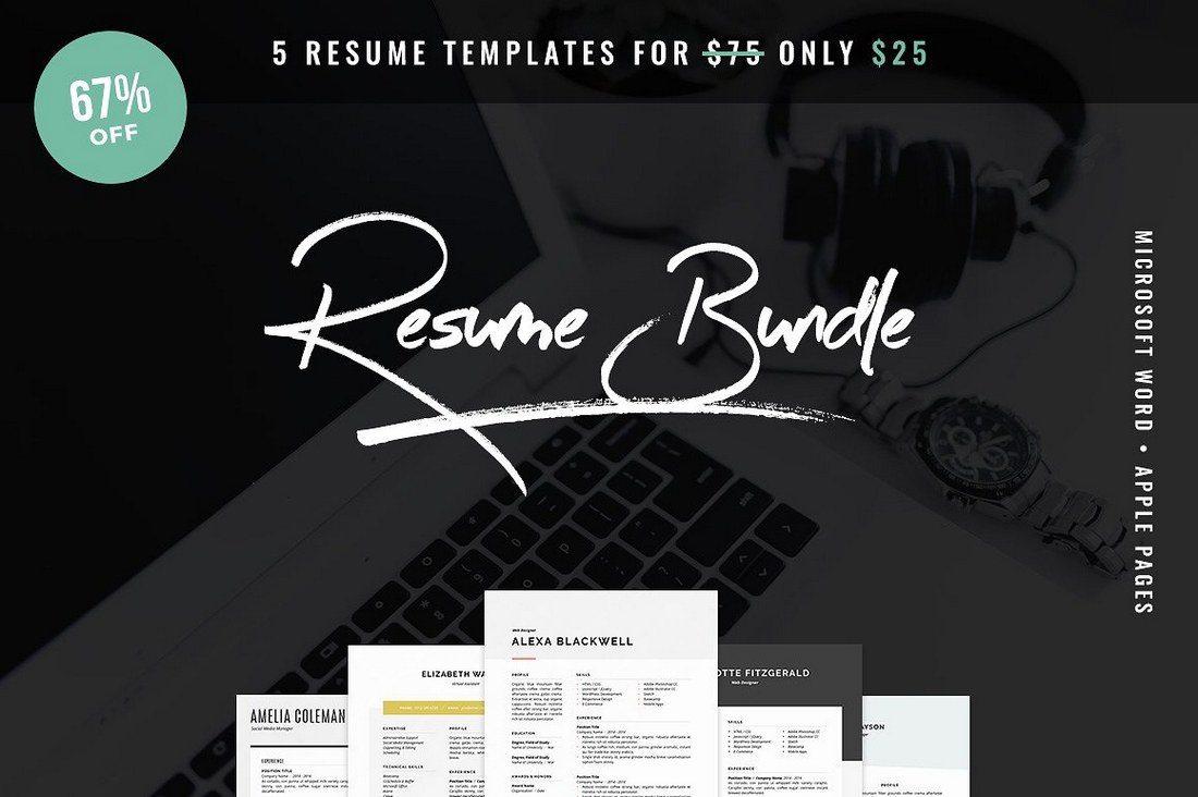 Resume-Bundle-5-Pack 20+ Best Pages Resume & CV Templates design tips