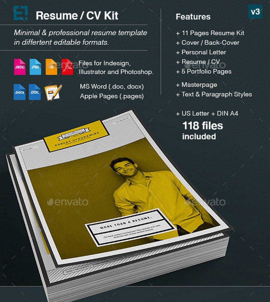 Resume-CV-Kit 20+ Best Pages Resume & CV Templates design tips