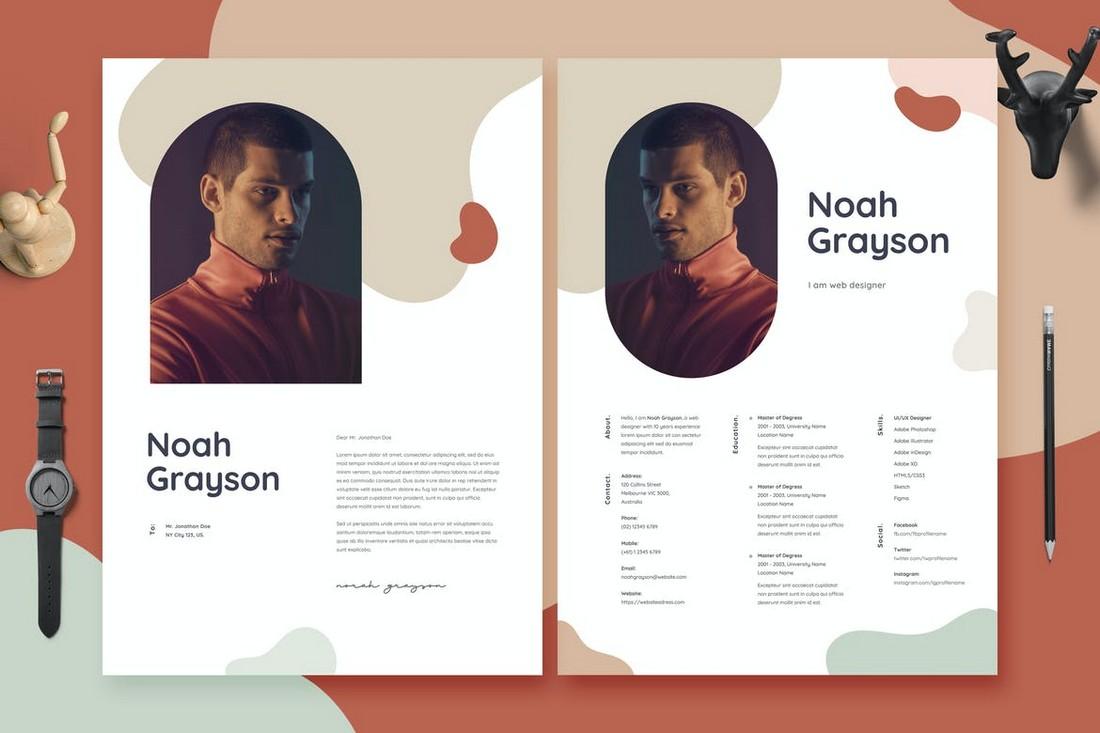 Resume CV Template for Designers