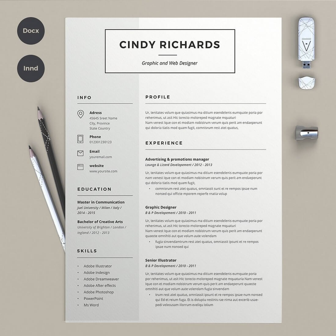 50 Best Cv Resume Templates Of 2019 Design Shack Indesign Examples