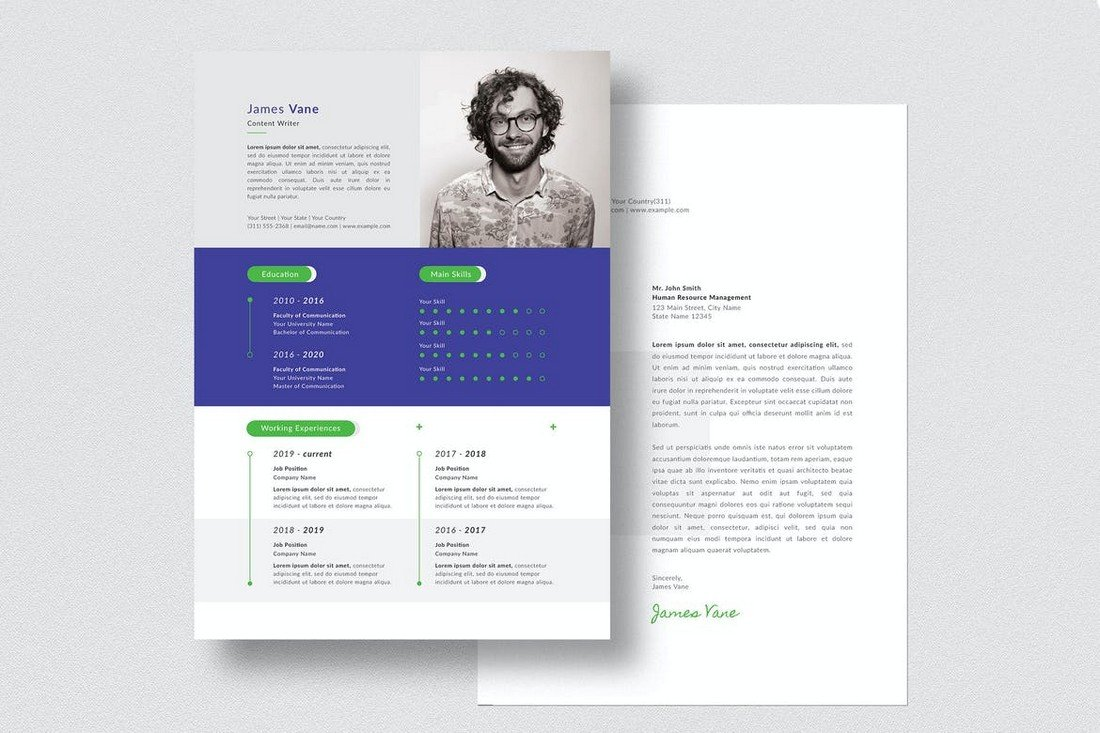Resume & Cover Letter Templates (PSD & AI)