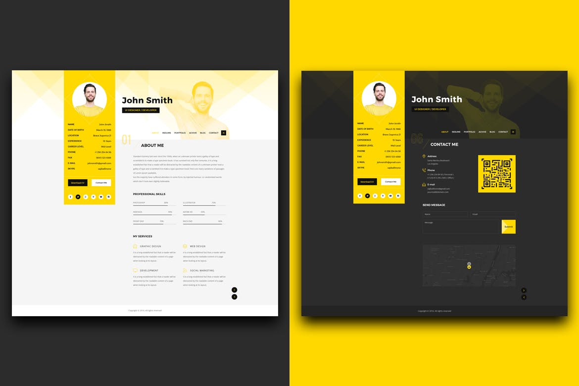 The best cv resume templates 50 examples design shack this is a pack of resume and cv templates that also include templates for a visiting card and a portfolio all of the templates are available in both light pronofoot35fo Choice Image