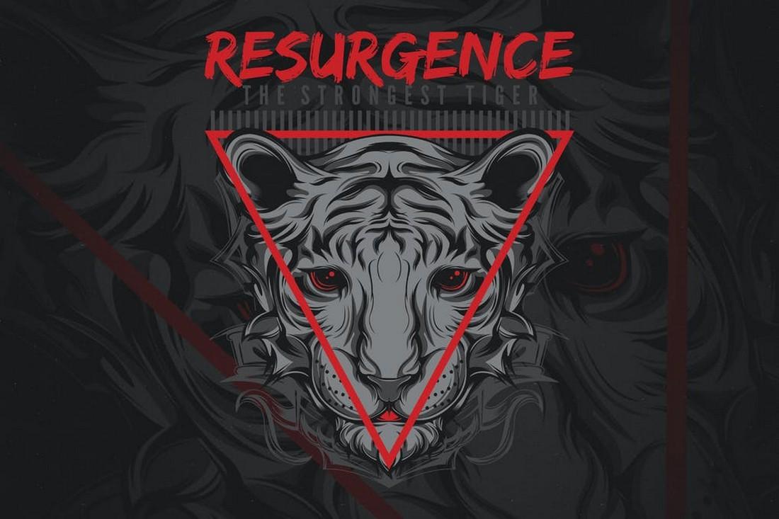 Resurgence - Cool Custom T-Shirt Design