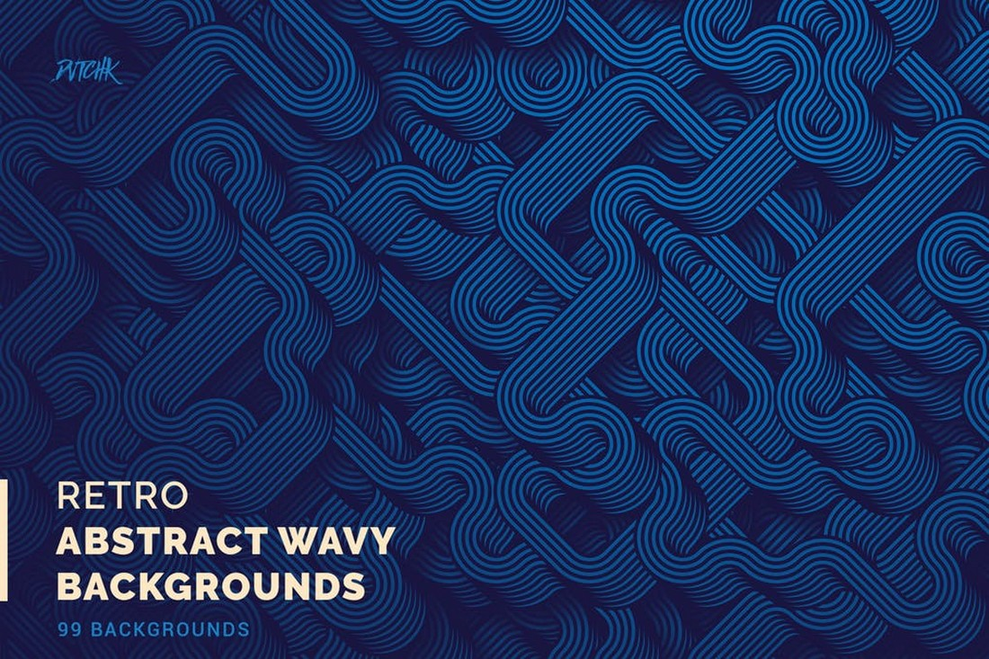 Retro - Abstract Wavy Backgrounds