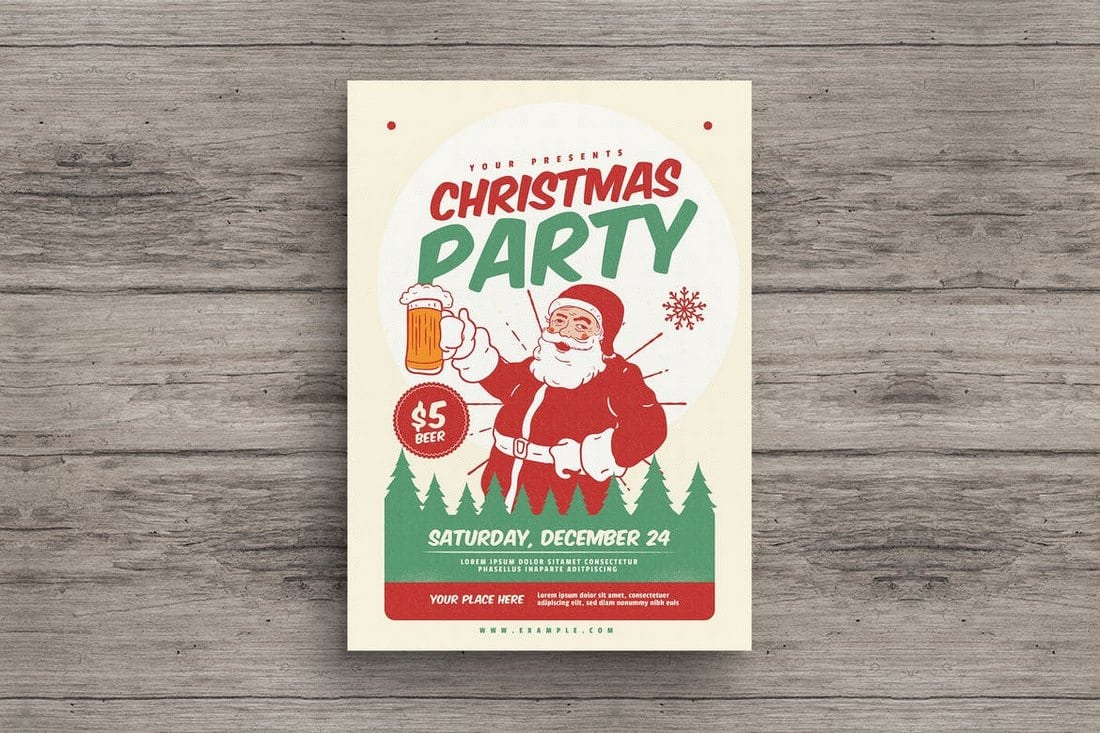 Retro-Christmas-Party-Flyer 20+ Best Event Flyer Templates design tips