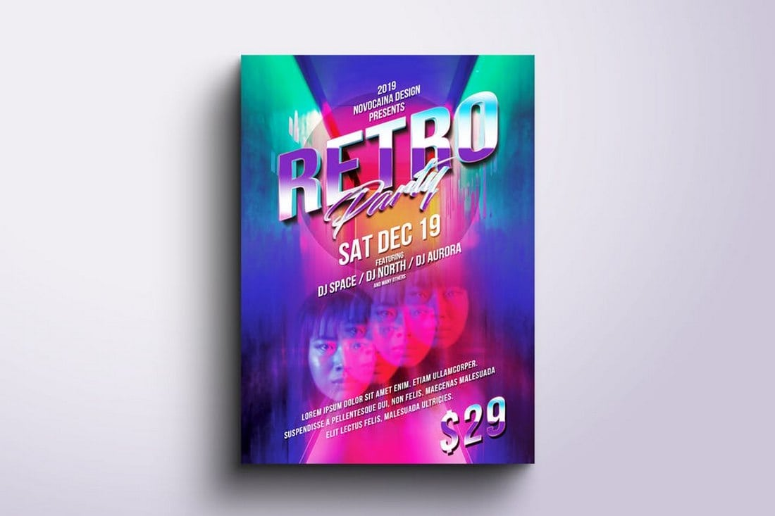 Retro Club Party Flyer & Poster Template