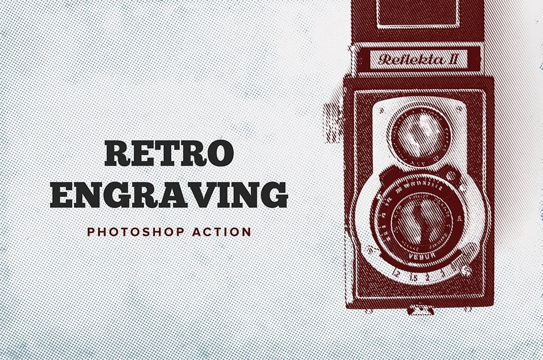 Retro-Engraving-Free-Photoshop-Action-1 50+ Best Photoshop Actions of 2020 design tips