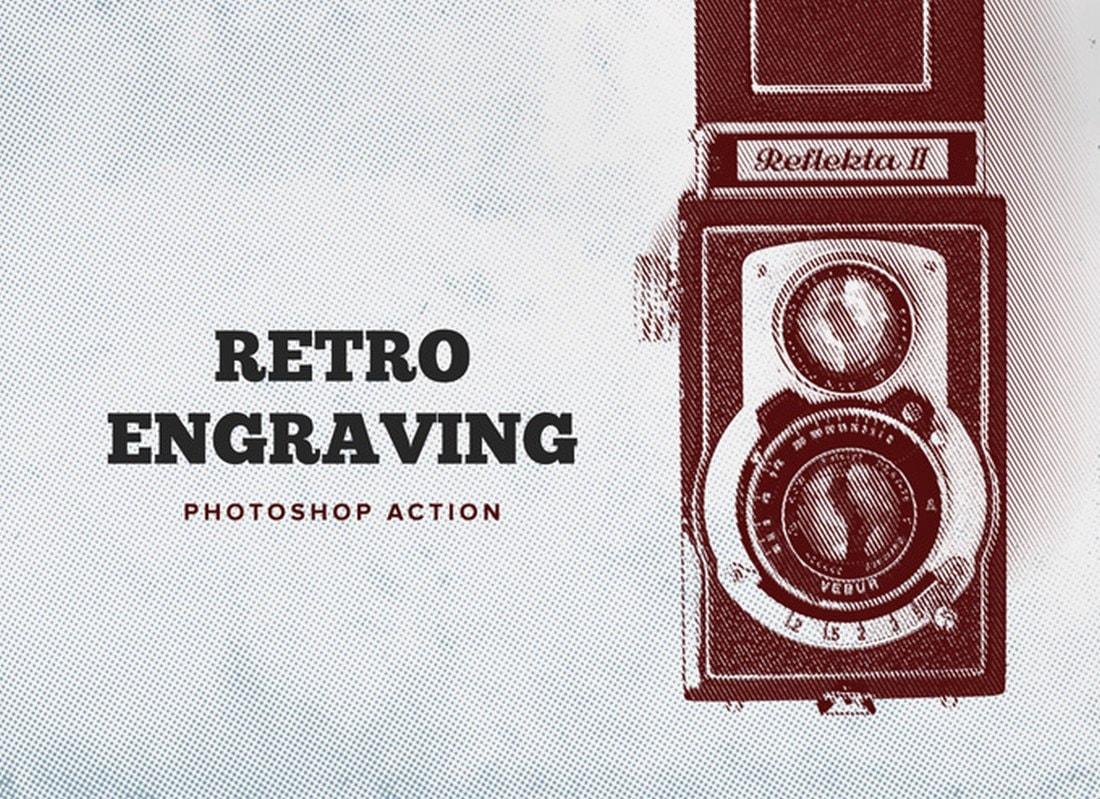 Retro Engraving Free Photoshop Action