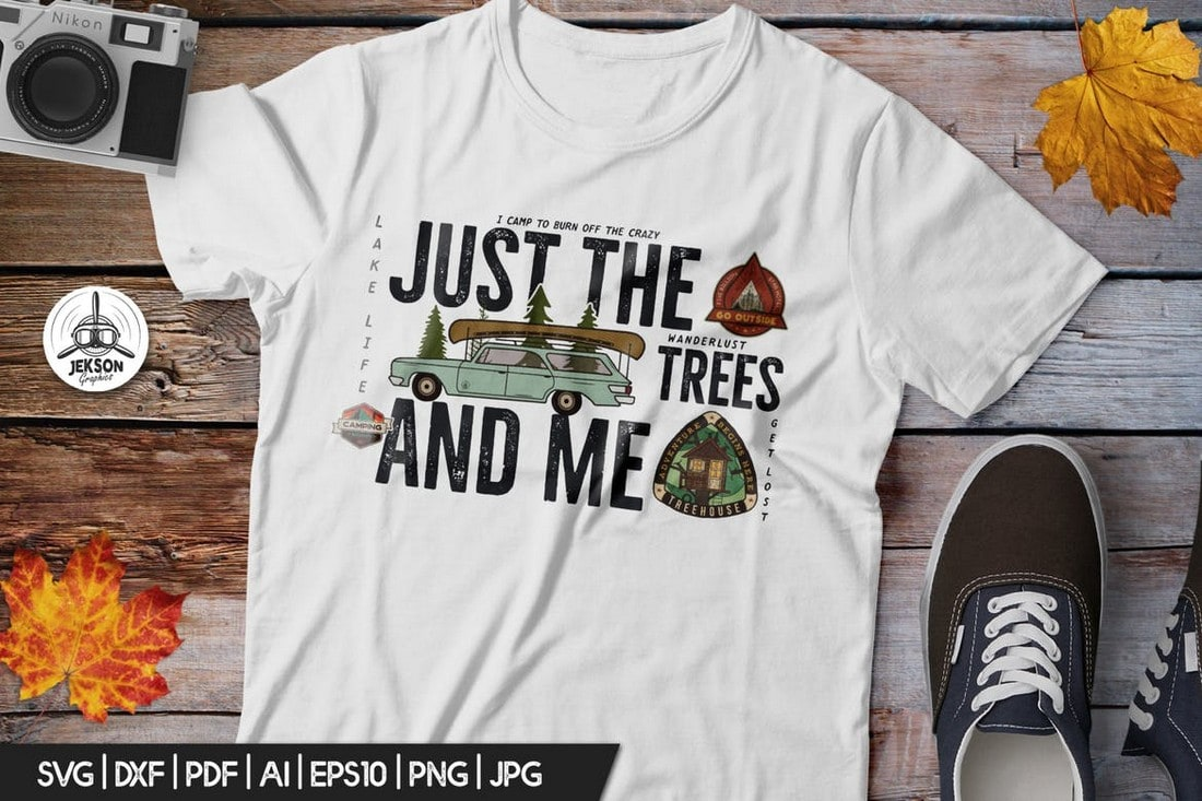Retro-Forest-Graphic-T-Shirt 10+ Creative T-Shirt Design Ideas (How to Design a T-Shirt) design tips