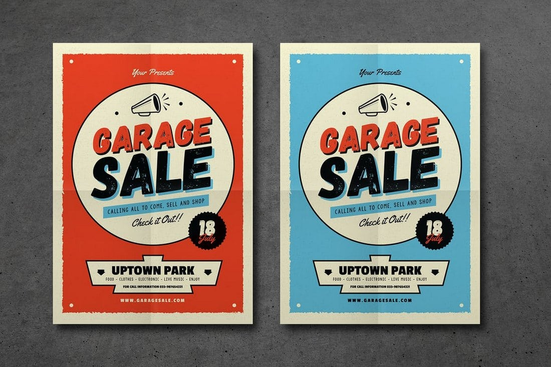 Retro-Garage-Sale-Event-Flyer-2 20+ Best Event Flyer Templates design tips