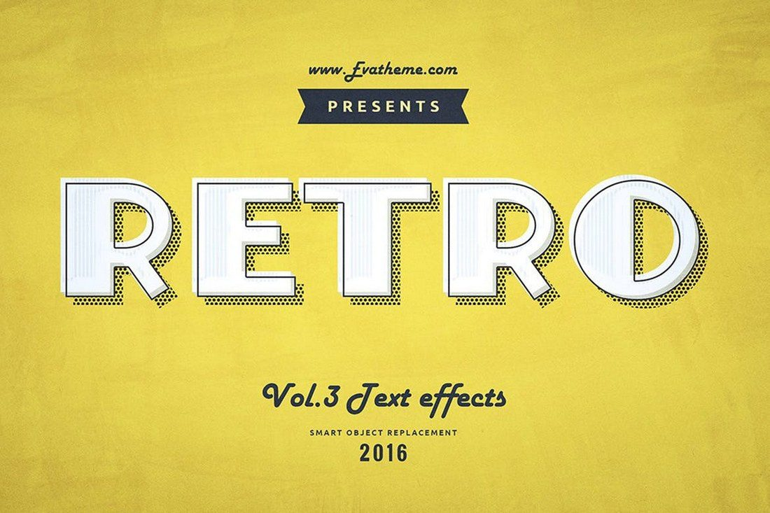 Retro-Style-Text-Effects-Vol.1 30+ Best Retro Text Effects & Styles design tips
