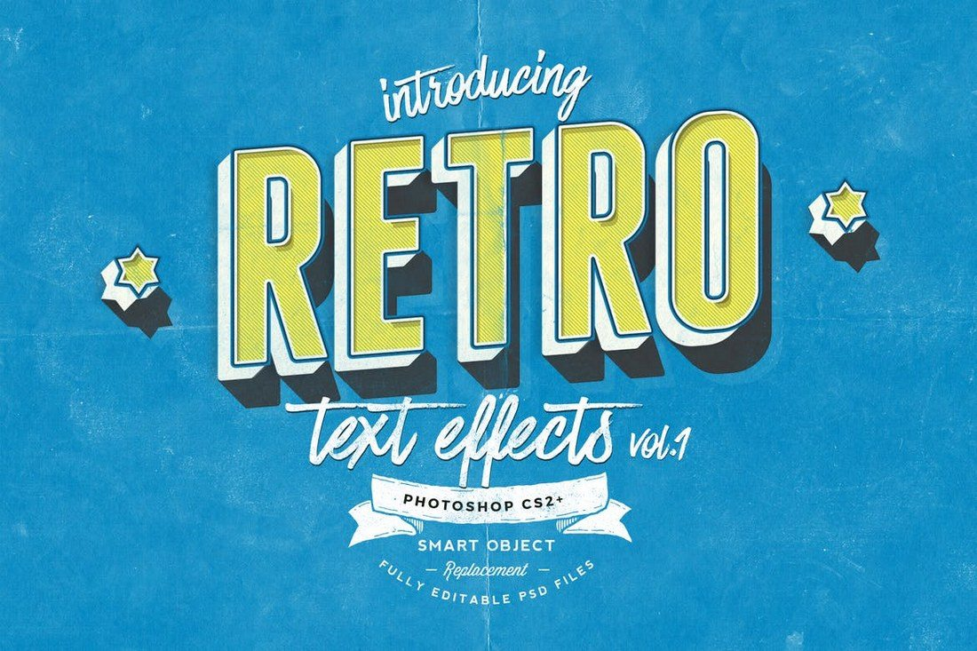 Retro-Text-Effects-vol.1 30+ Best Retro Text Effects & Styles design tips