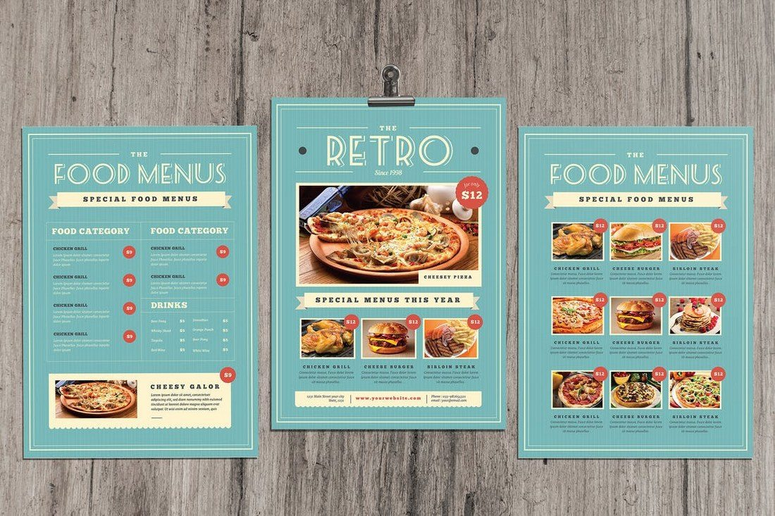 Retro-Vintage-Food-Menu 50+ Best Food & Drink Menu Templates design tips