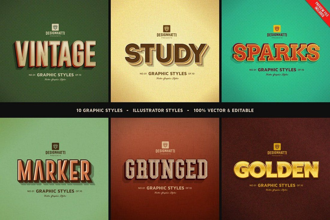 Retro-Vintage-Text-Styles-Vol.02 30+ Best Retro Text Effects & Styles design tips