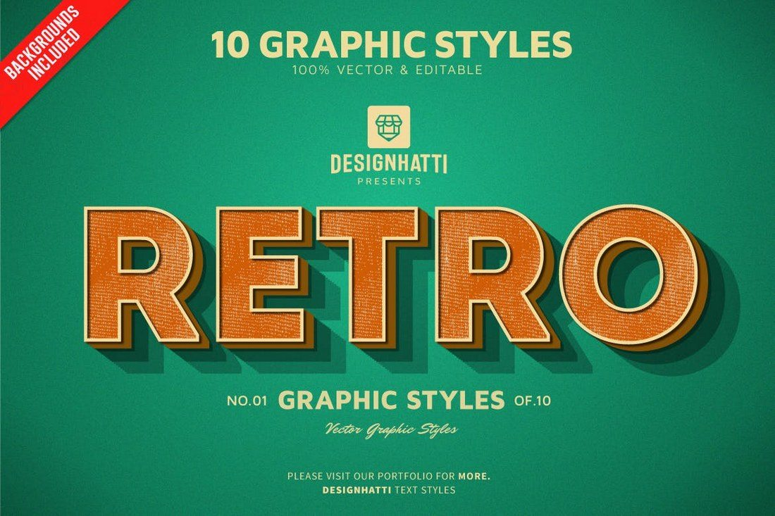 Retro-Vintage-Text-Styles 30+ Best Retro Text Effects & Styles design tips