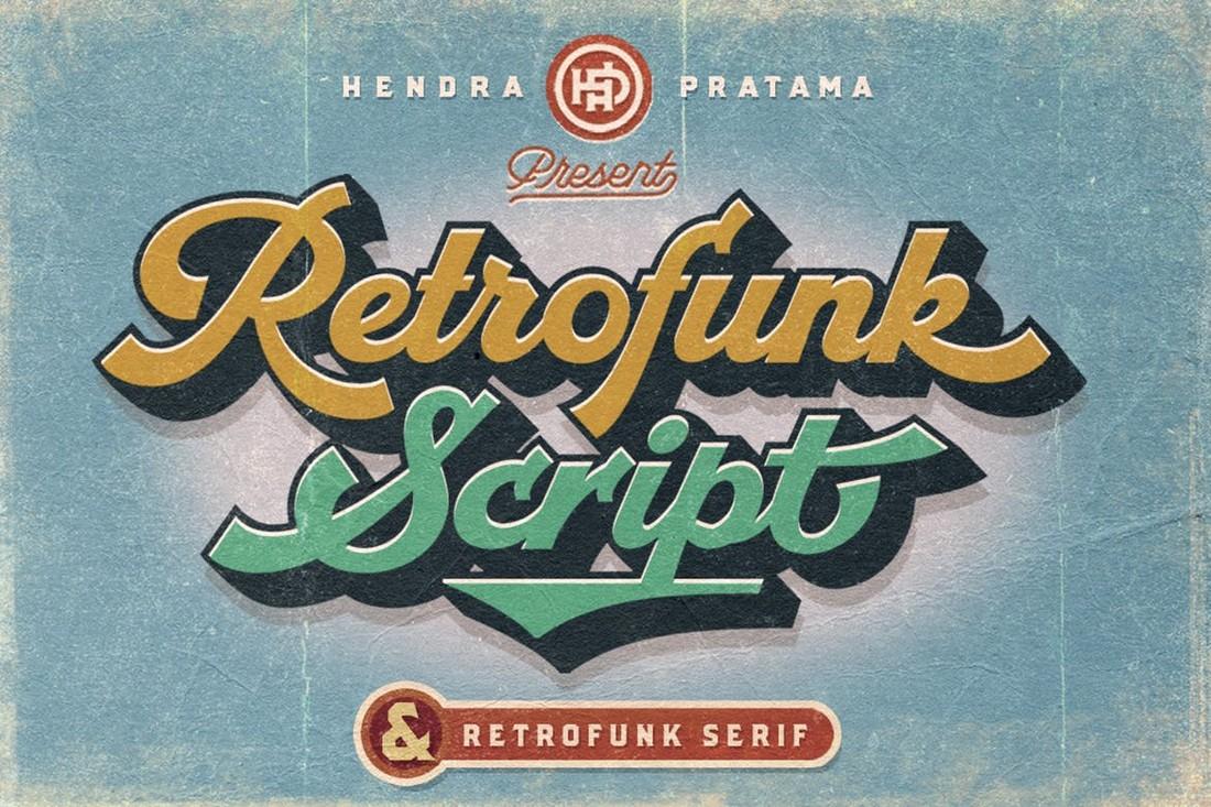 Retrofunk - Script & Serif Fonts