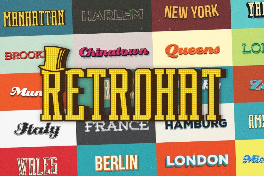 Retrohat-Graphic-Styles 30+ Best Retro Text Effects & Styles design tips