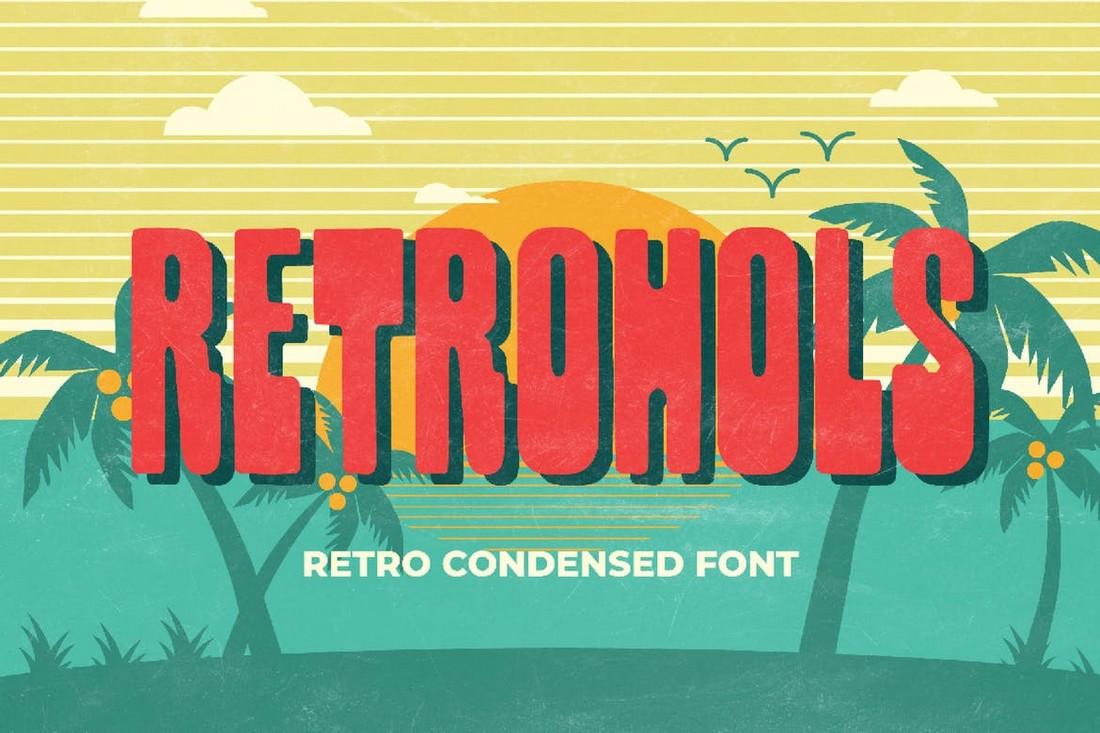 Retrohols-Retro-Condensed-Font 25+ Best Retro Fonts in 2021 (Free & Premium) design tips