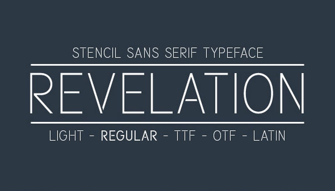 Revelation-Font 30+ Best Stencil Fonts design tips