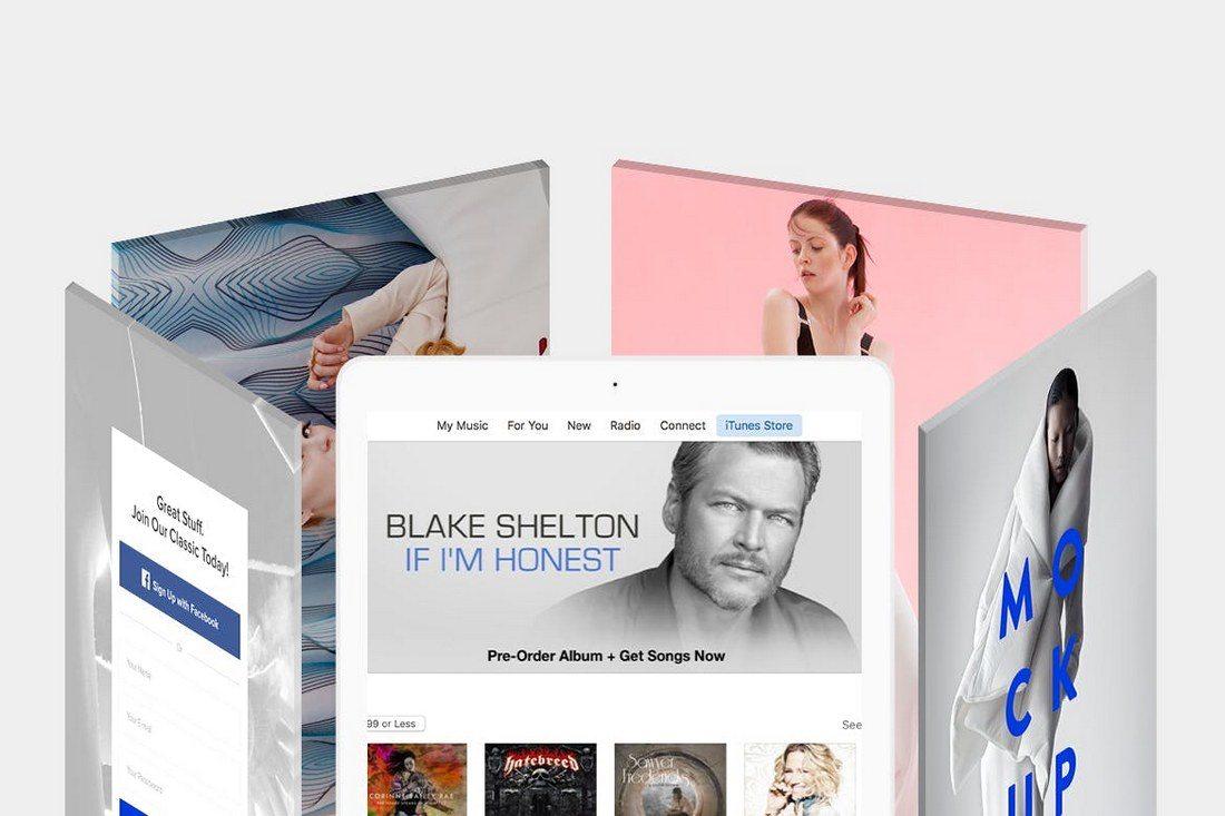 Revolving-iPad-Screen-Mockup-1 20+ Best Responsive Website & App Mockup Templates design tips