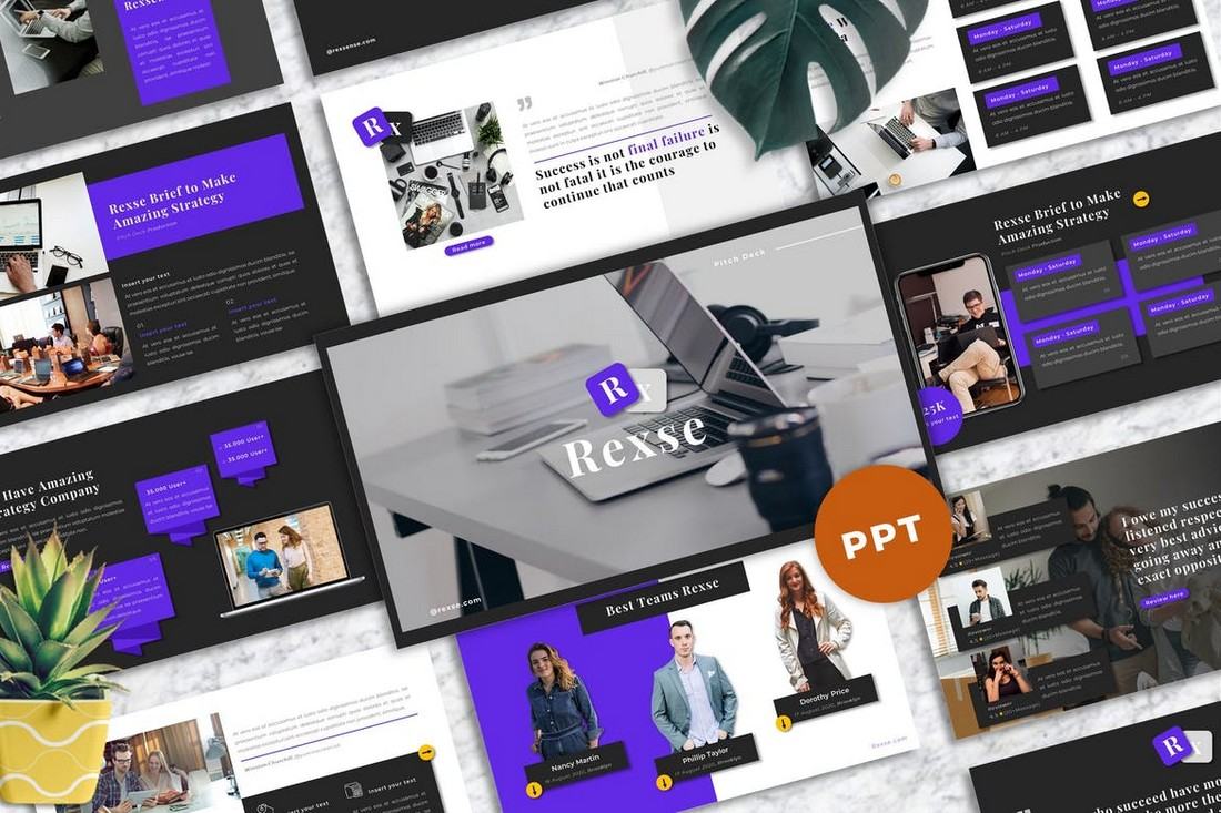 Rexse - Pitch Deck Powerpoint Template