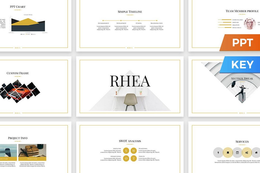Rhea - Simple PowerPoint Presentation Template