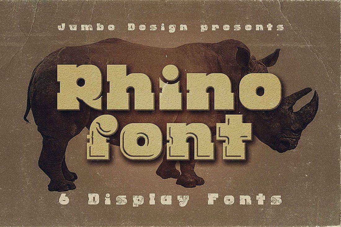 Rhino-Display-Font 30+ Best Fonts for Logo Design design tips