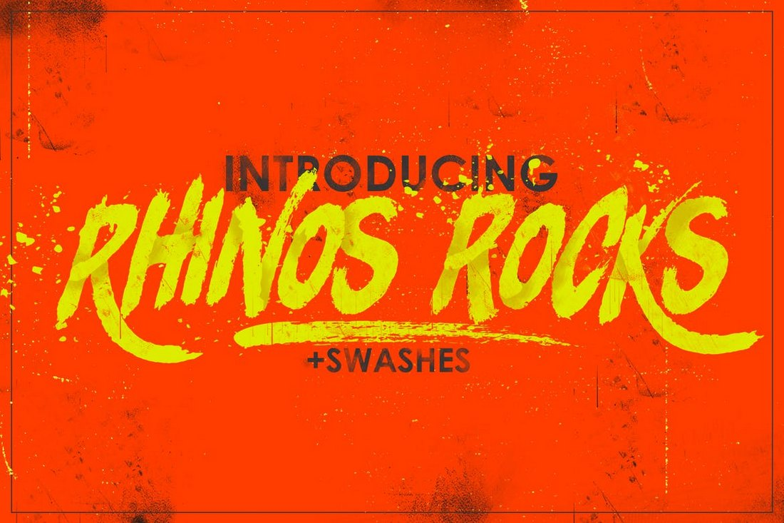 Rhinos-Rocks-Brush-Font 30+ Best Fonts for Posters design tips
