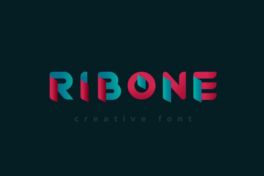 RibOne-Logo-Font 30+ Best Fonts for Logo Design design tips