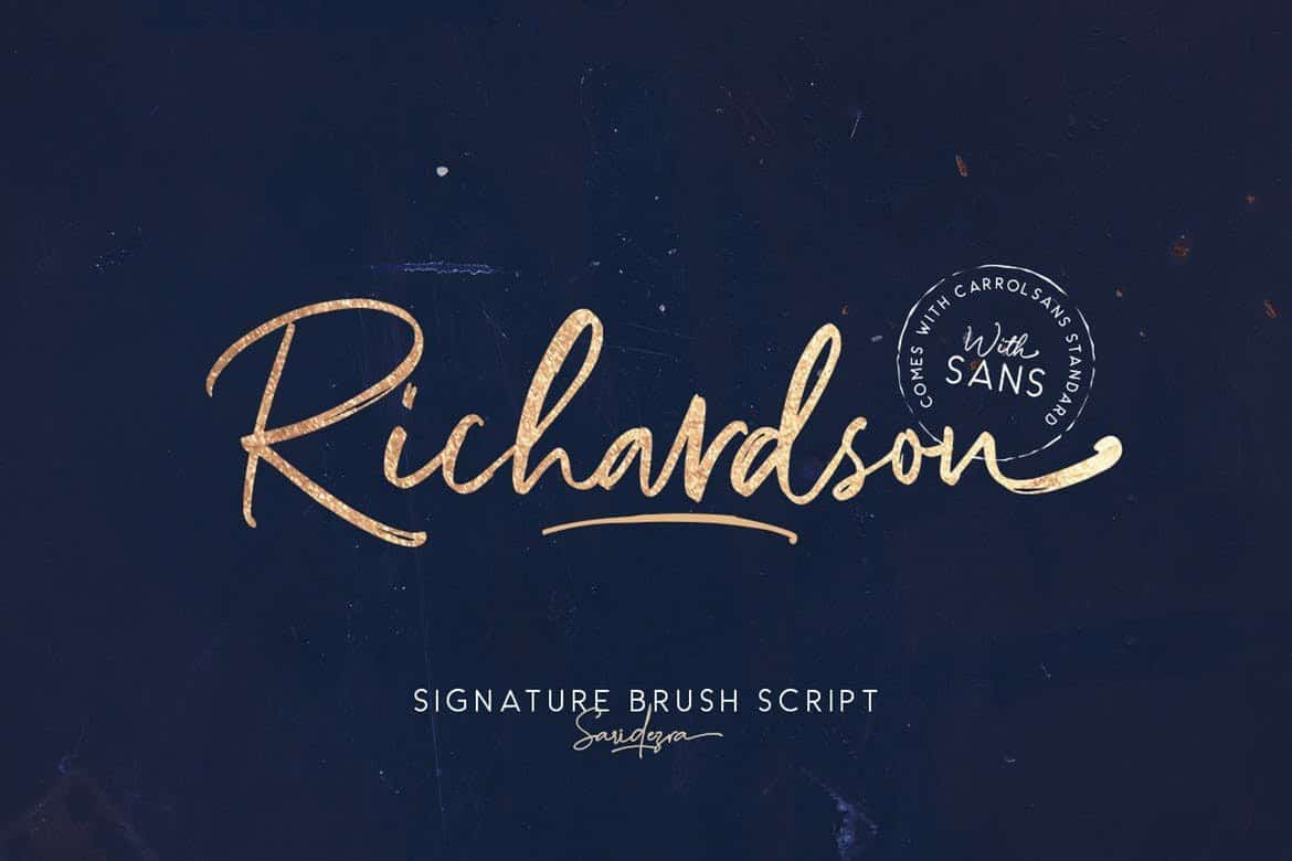 Richardson - Signature Brush Font